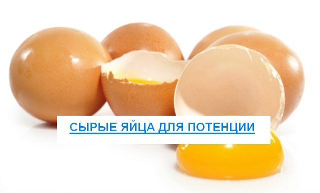 Сырые яйца для потенции
